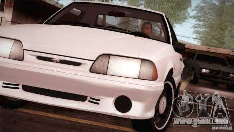 Ford Mustang SVT Cobra 1993 para la visión correcta GTA San Andreas