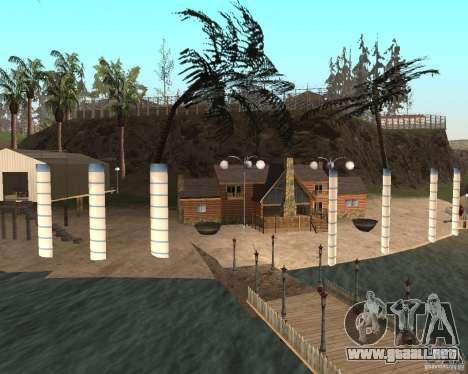 Villa en la Laguna de pesca para GTA San Andreas