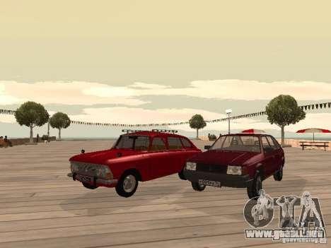AZLK Moskvich 2141 para GTA San Andreas vista hacia atrás