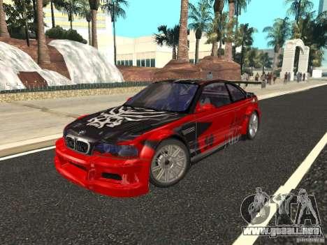 BMW M3 GTR de NFS Most Wanted para la vista superior GTA San Andreas