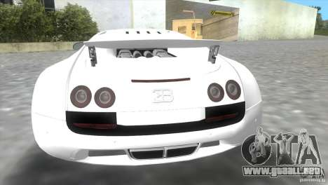 Bugatti ExtremeVeyron para GTA Vice City vista posterior