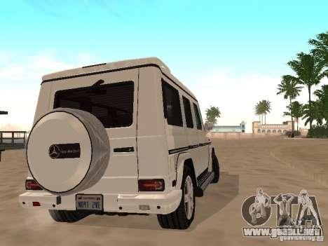 Mercedes-Benz Galendewagen G500 para visión interna GTA San Andreas