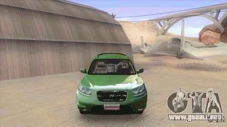 Hyundai Santa Fe 2009 para GTA San Andreas left
