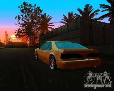 Khord ThunderWing para GTA San Andreas vista hacia atrás