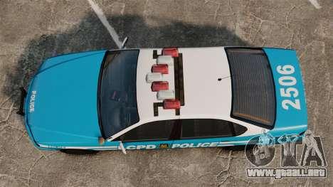 Declasse Merit Police Cruiser ELS para GTA 4 visión correcta