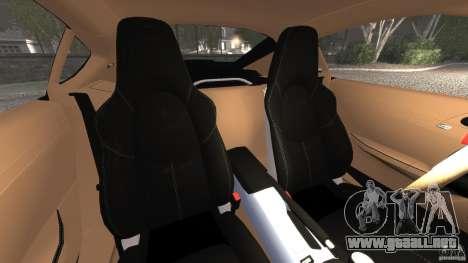 Porsche Cayman R 2012 para GTA 4 vista interior