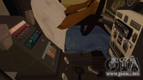 Land Rover Defender Sheriff para visión interna GTA San Andreas