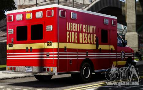Ford Econoline E350 Ambulance para GTA 4 Vista posterior izquierda