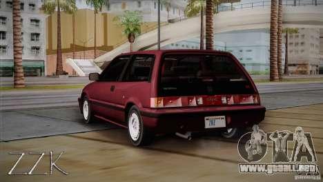 Honda Civic Si Coupe para la visión correcta GTA San Andreas