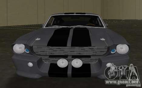 Shelby GT500 Eleanor para GTA Vice City vista interior