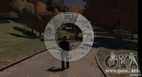 GTA 5 Weapon Wheel HUD para GTA 4