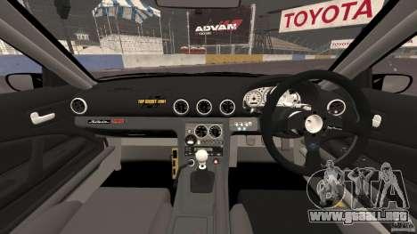 Nissan Silvia S15 D1GP TOP SECRET para GTA 4 vista hacia atrás