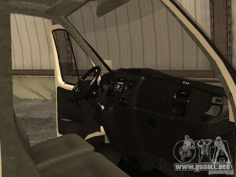 GAZ 2752 Sobol negocios para visión interna GTA San Andreas