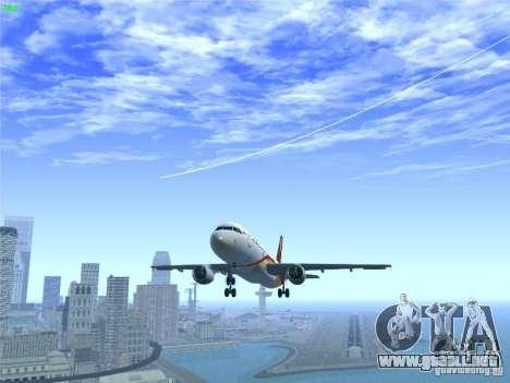 Airbus A320-214 Hong Kong Airlines para GTA San Andreas interior