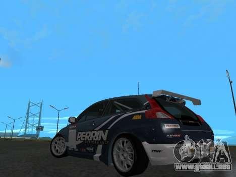 Volvo C30 Race para GTA San Andreas vista posterior izquierda