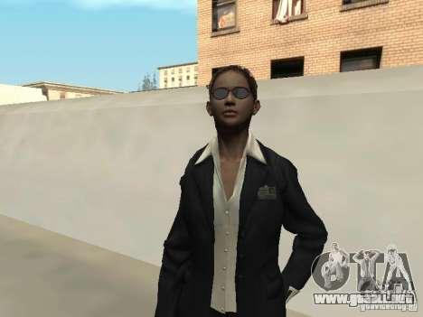Piel femenina del FBI. para GTA San Andreas segunda pantalla