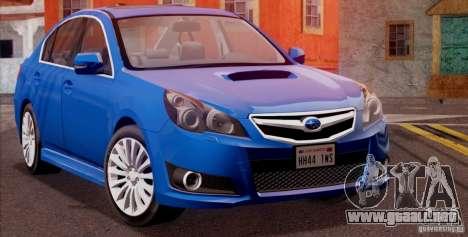 Subaru Legacy B4 2010 para GTA San Andreas vista posterior izquierda