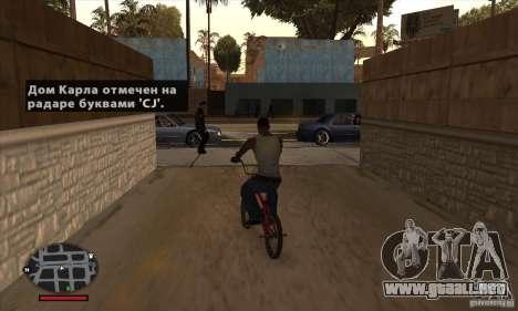 HUD for SAMP para GTA San Andreas quinta pantalla