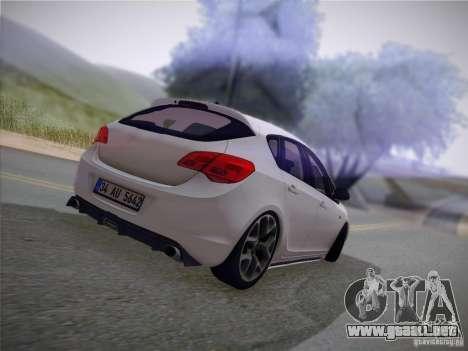 Opel Astra Senner Lower Project para visión interna GTA San Andreas