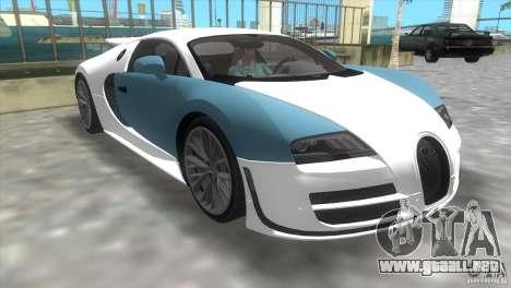 Bugatti ExtremeVeyron para GTA Vice City left