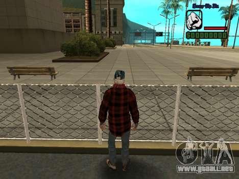 La chaqueta de vago de la piel para GTA San Andreas sucesivamente de pantalla
