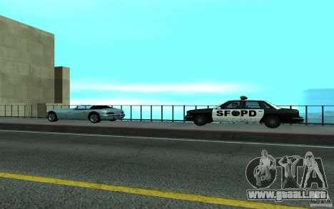 Policía en el puente, San Fierro para GTA San Andreas