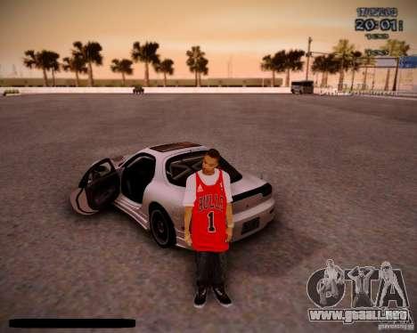 Piel Chicago Bulls para GTA San Andreas segunda pantalla