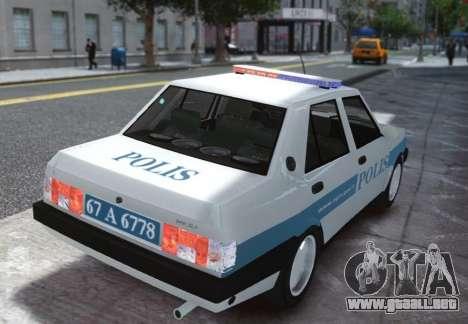 Tofas Sahin Turkish Police ELS para GTA 4 Vista posterior izquierda