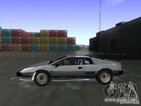 Lotus Esprit Turbo para la visión correcta GTA San Andreas
