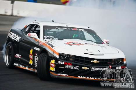 Chevrolet Camaro Hankook Tire para vista lateral GTA San Andreas