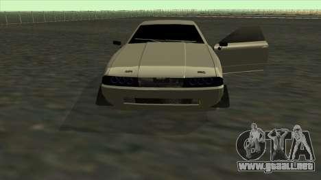 Elegy Roportuance para la vista superior GTA San Andreas