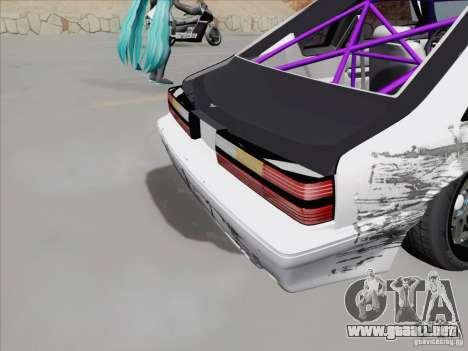 Ford Mustang Drift para visión interna GTA San Andreas