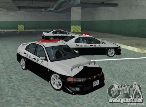 Mitsubishi Galant Police para GTA San Andreas left
