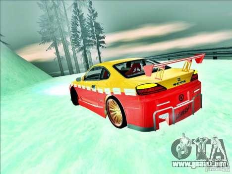 Nissan Silvia S15 Calibri-Ace para GTA San Andreas vista hacia atrás