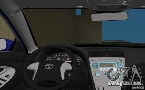 Toyota Camry 2007 para GTA Vice City vista desde abajo