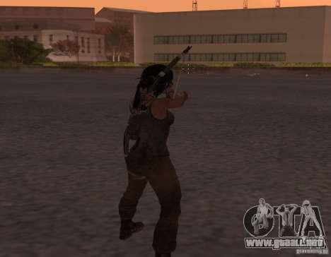 Skin Tomb Raider 2013 para GTA San Andreas segunda pantalla