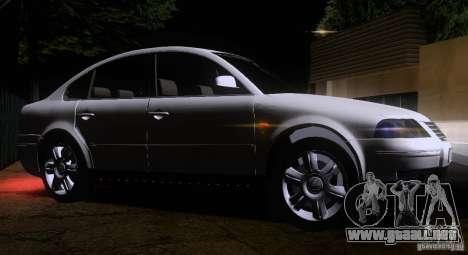 Volkswagen Passat B5+ para visión interna GTA San Andreas