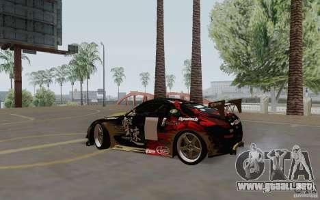 Nissan 350Z para GTA San Andreas vista posterior izquierda