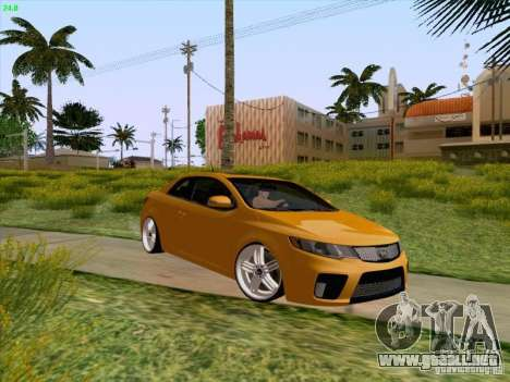 Kia Cerato Coupe 2011 para la vista superior GTA San Andreas