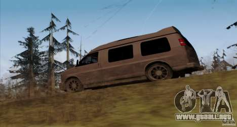 GMC Savana AWD para GTA San Andreas vista posterior izquierda