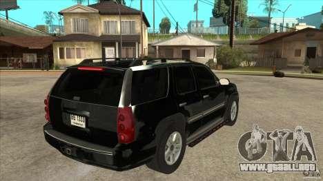 GMC Yukon Unmarked FBI para la visión correcta GTA San Andreas