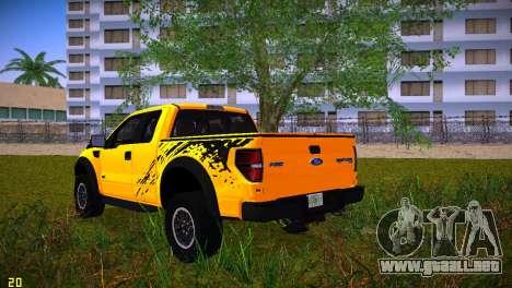 Ford F-150 SVT Raptor para GTA Vice City vista lateral