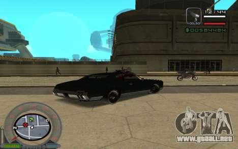 New Sabre para GTA San Andreas vista posterior izquierda