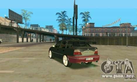 Daewoo Nexia Tuning para GTA San Andreas vista posterior izquierda