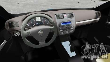 Volkswagen Jetta 2010 para GTA 4 vista hacia atrás