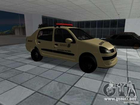 Renault Clio Symbol Police para la visión correcta GTA San Andreas