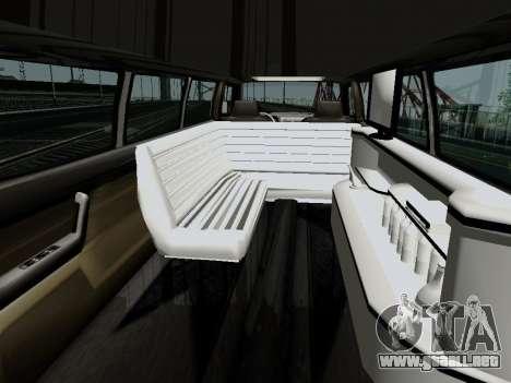 Hummer H3 Limousine para GTA San Andreas vista posterior izquierda