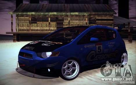 Mitsubishi Colt Rallyart Carbon 2010 para GTA San Andreas