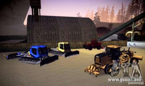 Caterpillar 140AWD Motorgrader para visión interna GTA San Andreas