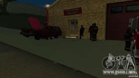 Estación de fuego de avivamiento en San Fierro v para GTA San Andreas sucesivamente de pantalla